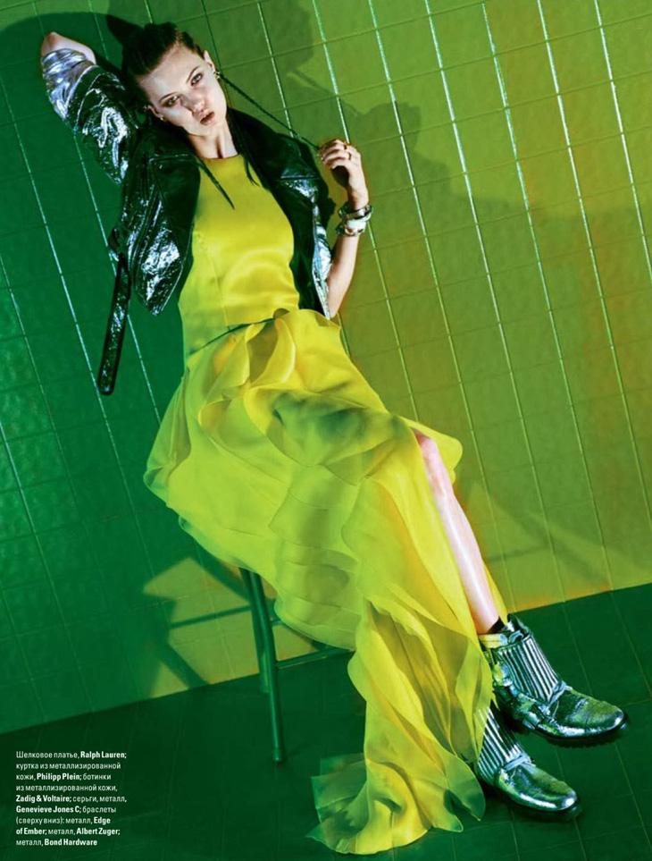 Линдси Виксон (Lindsey Wixson) в майском выпуске Vogue Ukraine 2014