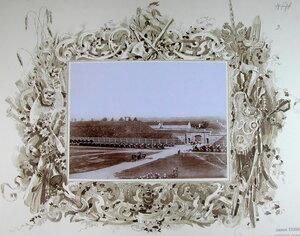 Император Николай II и сопровождающие его военные чины в момент прибытия на форт [Литеры М.].