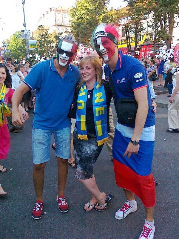 Фан-зона Киева в день финала 1 июля 2012 года