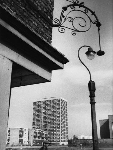 Old and New Housing in Salford, Manchester 1966