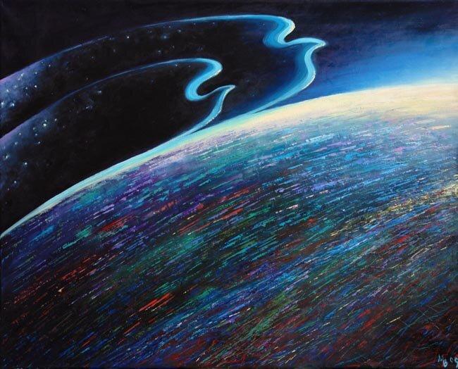 """Схема вышивки  """"Сон Земли """": схема."""