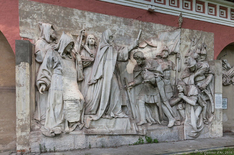 Горельефы Храма Христа Спасителя. Донской монастырь.