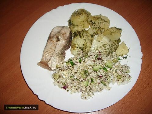 Рецепты для пароварки. Рыбка на пару с картошкой