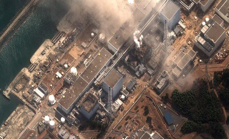 АЭС после взрыва