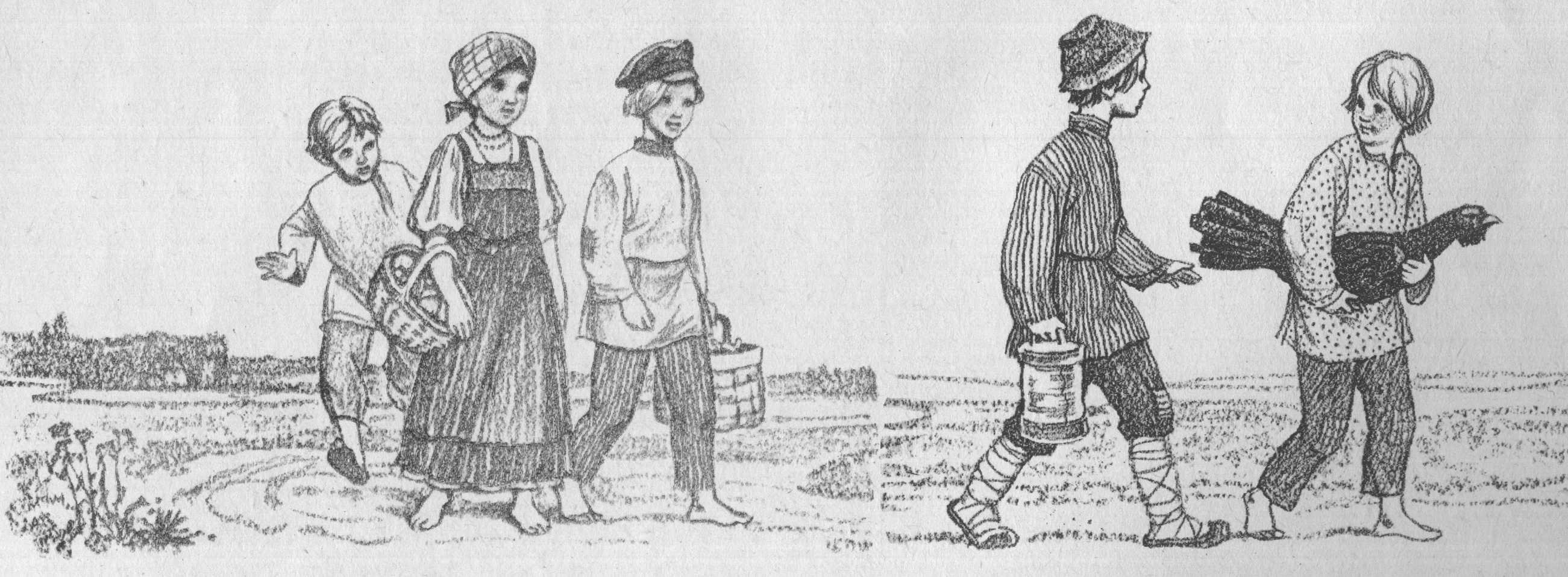 рисунок на тему крестьянская жизнь