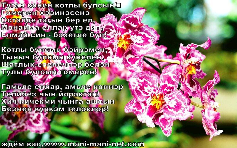 Поздравление на башкирском с др