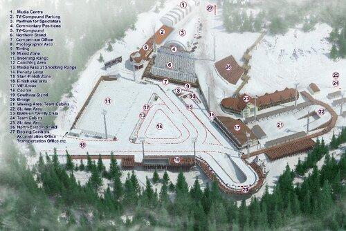 карты биатлонного центра смотреть.