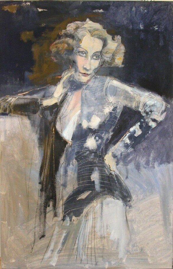 Marlene Dietrich by hueck