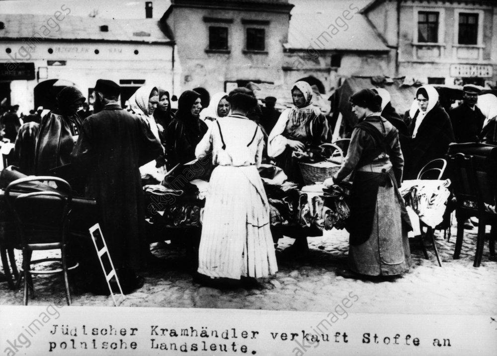 Jьdischer Kramhдnlder in Wilna / 1915 - Jewish grocer in Vilnius / 1915 -