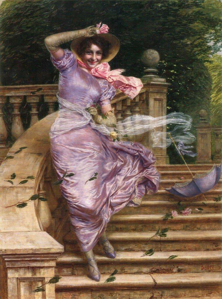 Беллей Гаэтано(Belley Gaetano)«Порыв ветра», 1902<br /> Частное собрание.