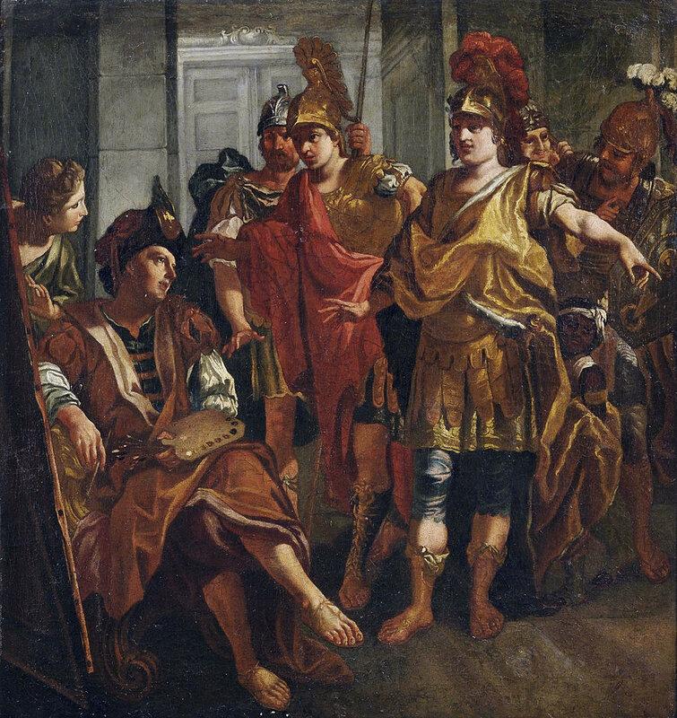 17-18 век друзья Александр Великий и Апеллес , НХ круг Антонио Balestra,.jpg