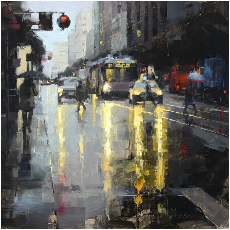 Дождь на картинах Jacob Dhein