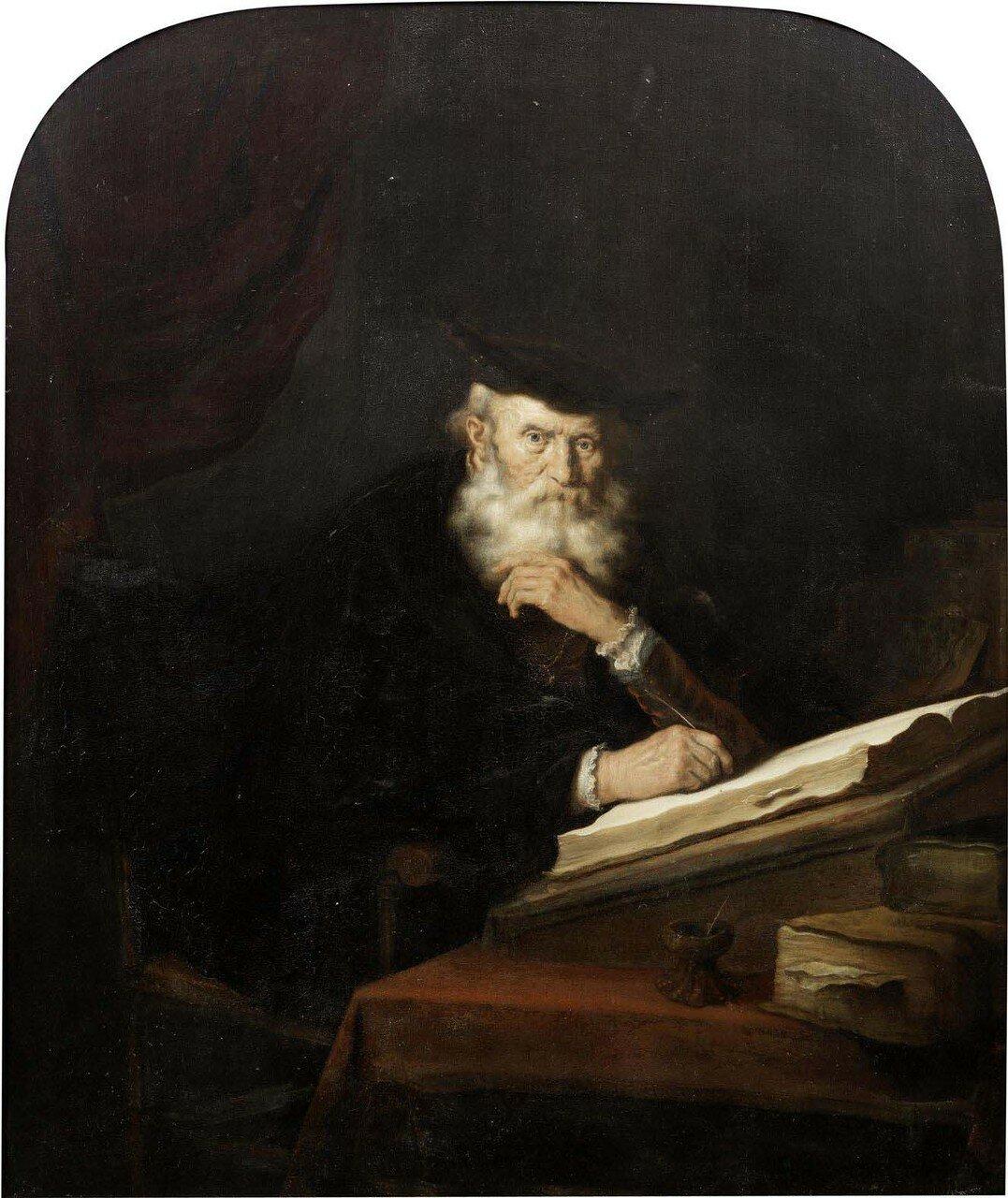 Философ, сидящий за столом (A philosopher seated at his desk)_71.2 х 59.1_д.,м._Частное собрание.jpg