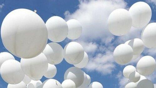 Впамять ожертвах Беслана волгоградские студенты выпустили внебо сотни шаров