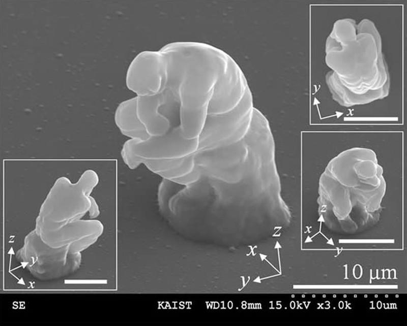 5. В 2007 году корейские исследователи при помощи лазеров создали микроскопическую версию знаменитой