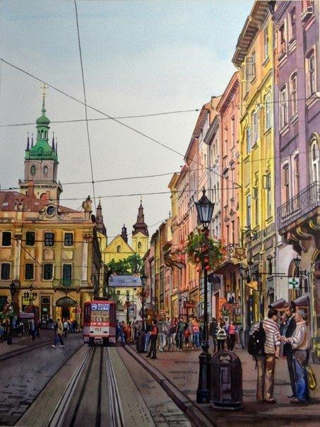 Городские пейзажи киевской художницы Кравченко Виктории