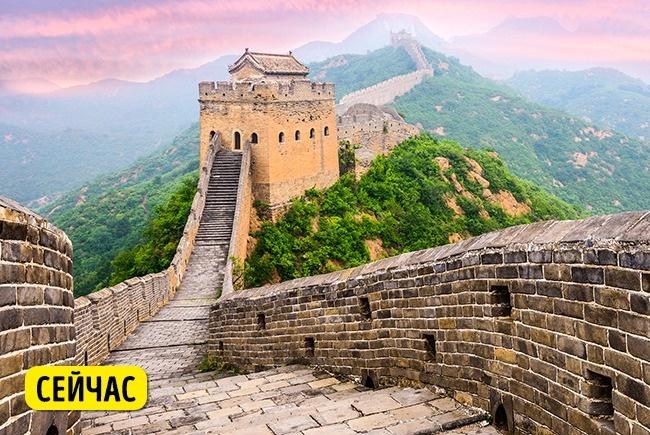 © depositphotos  Великую Китайскую стену посещают миллионы туристов каждый год, имногие берут