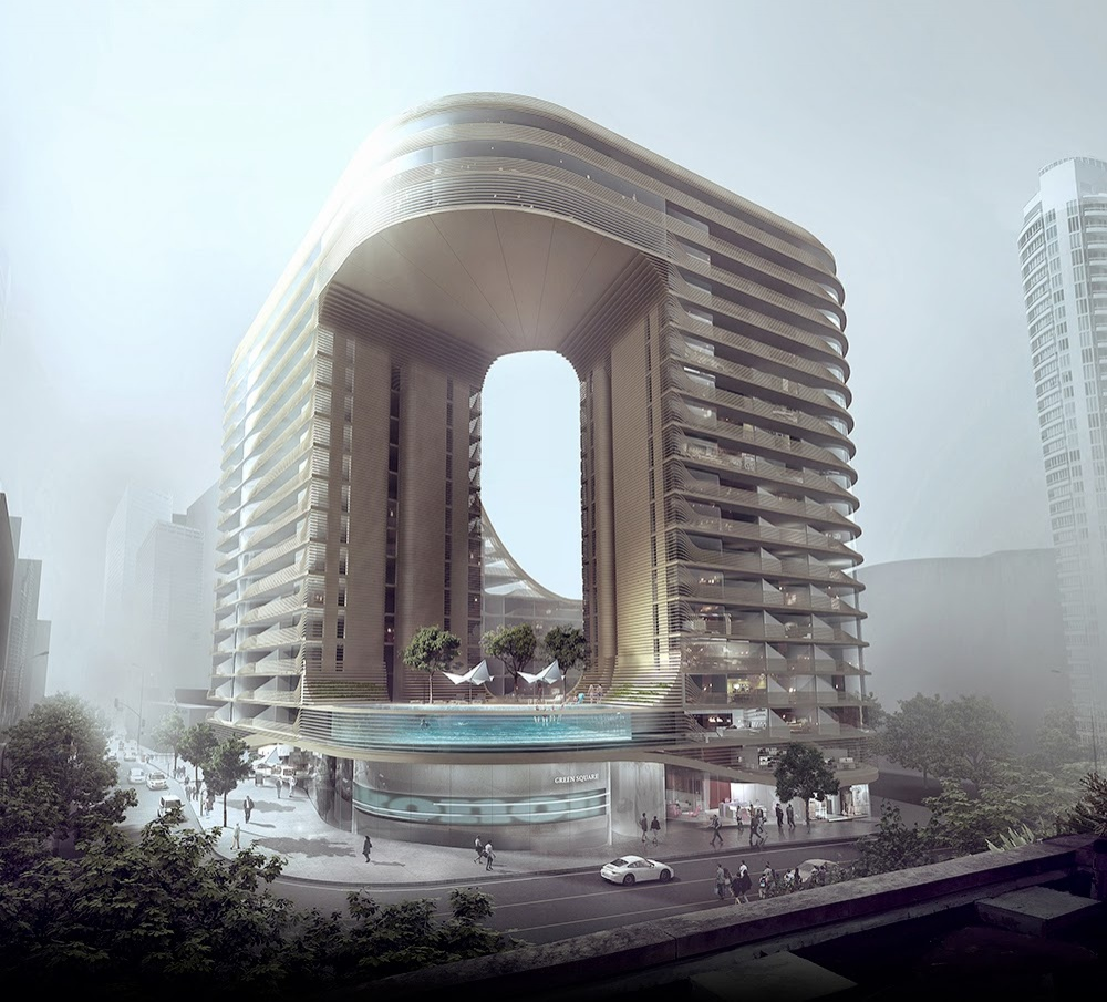 Вот так будут выглядеть дома будущего. Новый фешенебельный дом сдорогими ресторанами под названием
