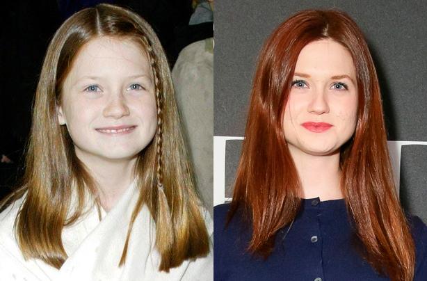 Бонни Райт (Джинни Уизли) Бонни сыграла младшую сестру Рона Уизли и пассию Гарри Поттера, но у актри