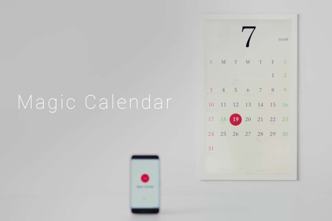 Magic Calendar - An awesome concept of connected calendar