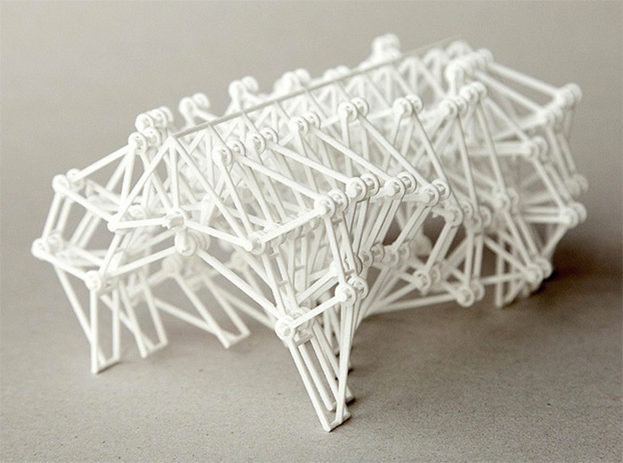 Artist Theo Jansen has created several 3D printed models of his famous walking sculptures called Str