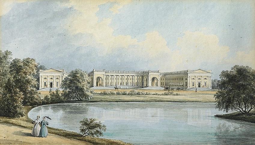 Вид александровского дворца в царском селе