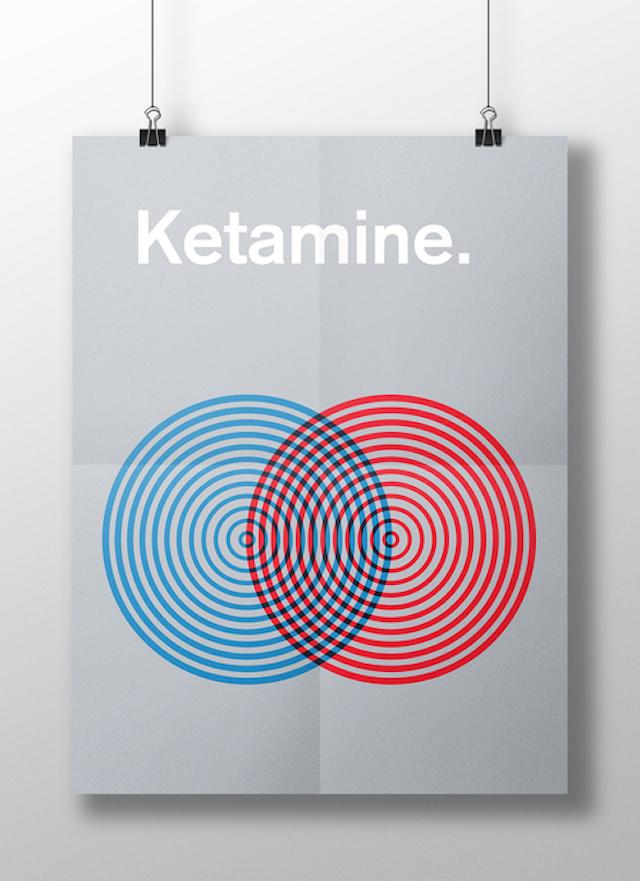 Posteres minimalistas do efeito de drogas