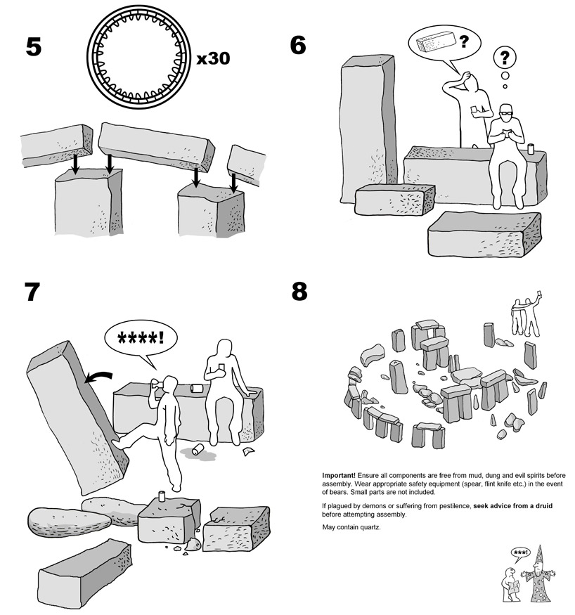 The Stonehenge: Ikea's Instructions