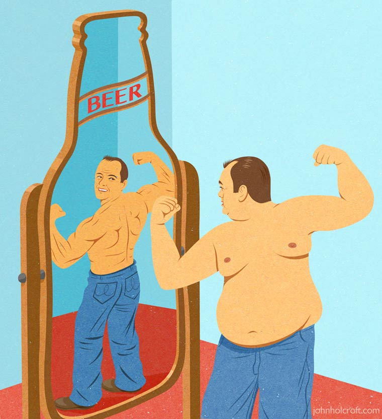 Happiness Kit - 22 nouvelles illustrations satiriques de John Holcroft