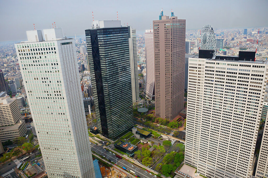 Вид со смотровой площадки Мэрии Токио