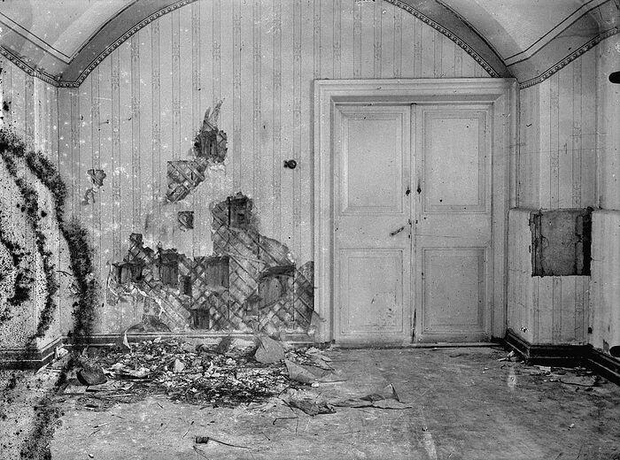 Святые Царственные Мученики Дом Ипатьева после расстрела Царской Семьи