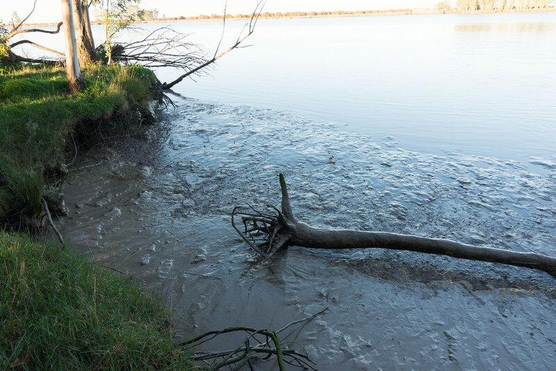 отлив и глина на реке гвадалквивир