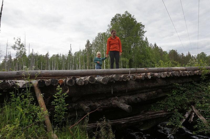 мост через ручей боровик возле первомайского на карельском перешейке