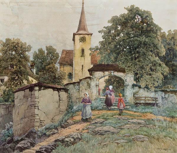 'Am Weg zur Kirche'