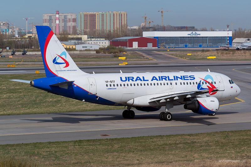Airbus A319-112 (VP-BTF) Уральские Авиалинии D804244