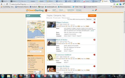 Список на CS тех, кто хостит в Неаполе