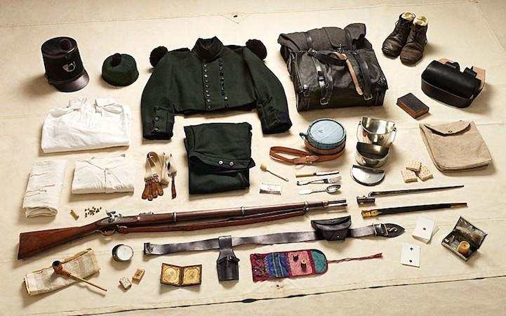 Экипировка рядового из стрелковой бригады в битве на реке Альма, 1854 год.