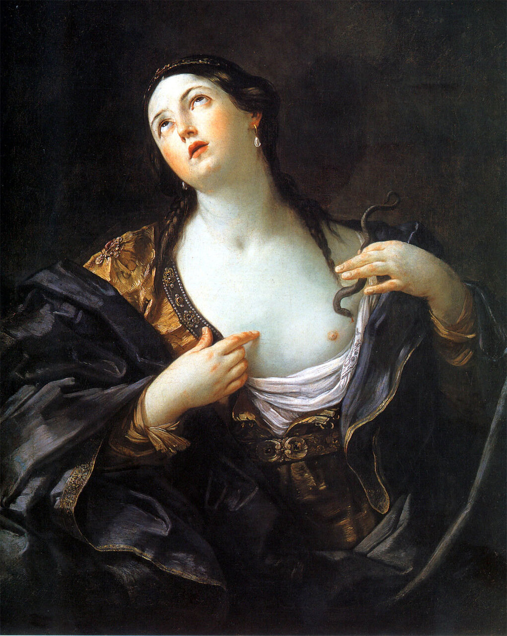 Death of Cleopatra by Guido Reni c. 1639 oil on canvas Potsdam Neues Palai