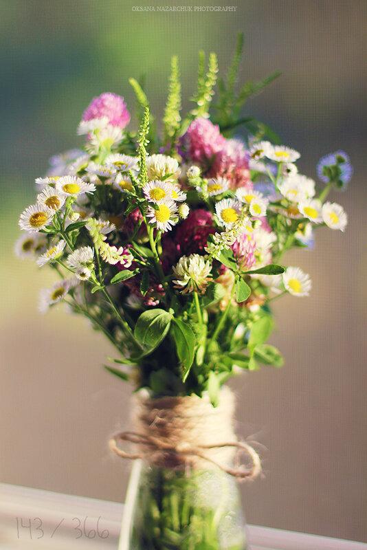 Букет из полевых цветов своими руками фото