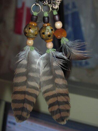 Серьги с перьями Старскрима - общий вид.