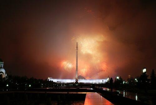 Салют 12 апреля на Поклонной горе в честь 50 летия полёта Ю.А.Гагарина