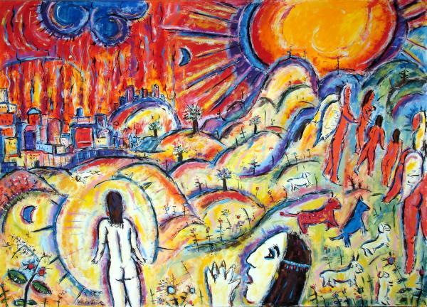 Untergang Sodoms - Lots Weib wird zur Salzsäule © Ulrich Leive