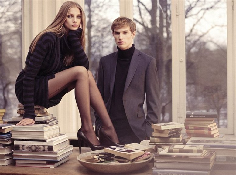 модель Анна Селезнева и Эдриан Бош / Anna Selezneva and Adrian Bosch, фотограф Henrik Bulow