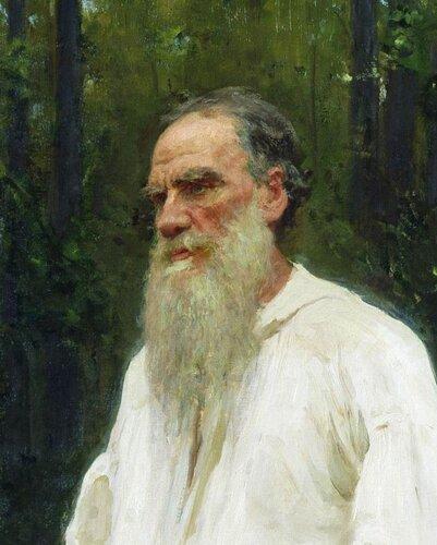 Лев Николаевич Толстой, 1901 г. Репин (деталь)