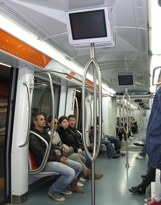 Rome. Anagnina metro station