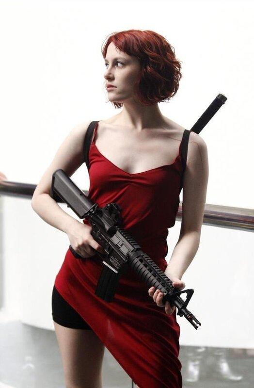 Как сшить красное платье из обители зла