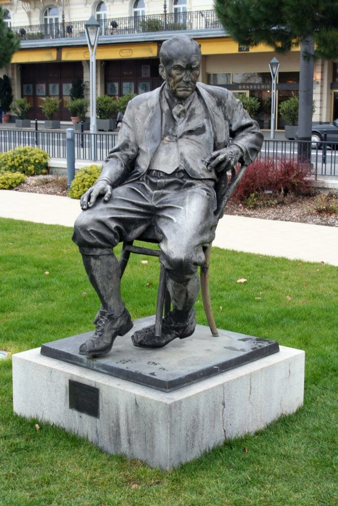 Monument of Nabokov in Montreux, in front of the Montreux Palace Hotel, Switzerland