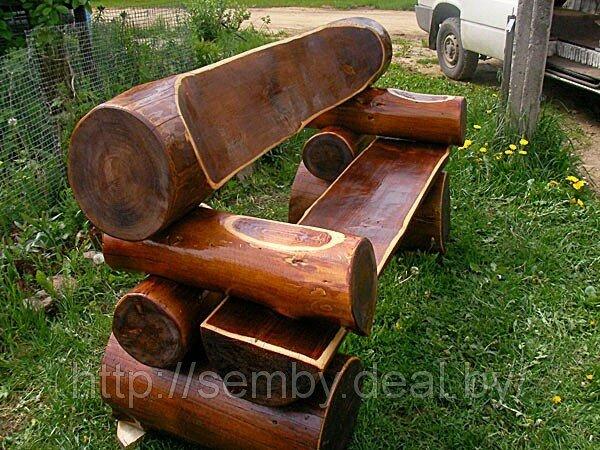 Дачная мебель из дерева своими руками