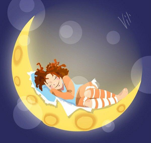 Красивые ночные картинки, рисунки спокойно тихой ночи.