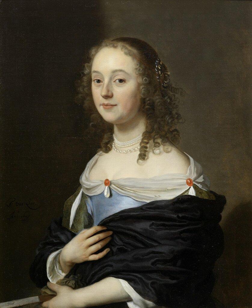 1657_Портрет молодой дамы в голубом платье (Portrait of a young lady, half-length, in a blue dress)_76.5 х 63.4_х.,м._Частное собрание.jpg